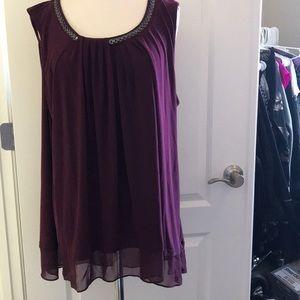 Dressy sleeveless blouse